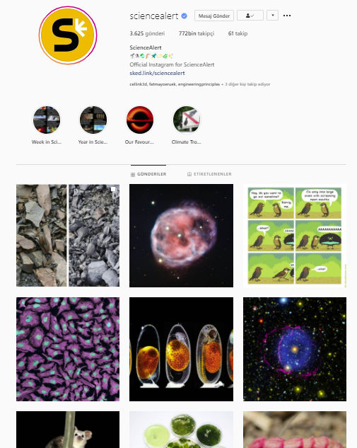 86 sciencealert instagram engineering mühendislik - BİR MÜHENDİSİN TAKİP EDEBİLECEĞİ İNSTAGRAM HESAPLARI